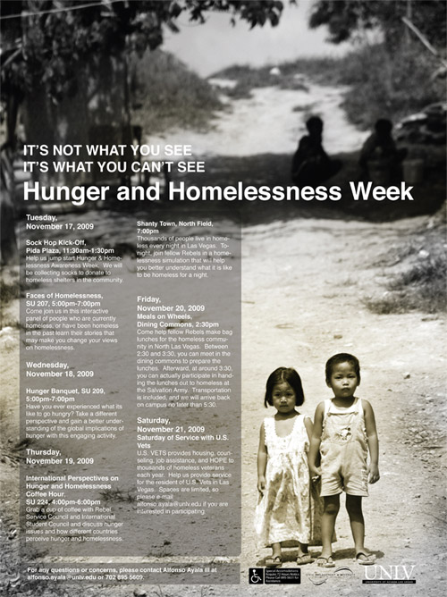 Poster for Hunger and Homelessness Week