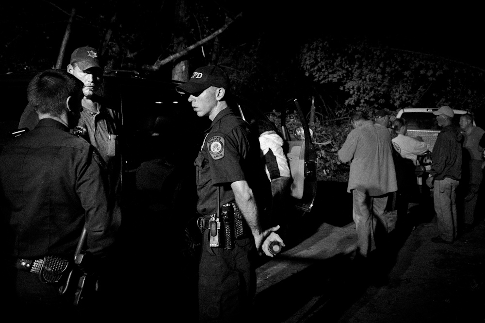 Officials discuss search and rescue operations. Lake Martin April 27, 2011